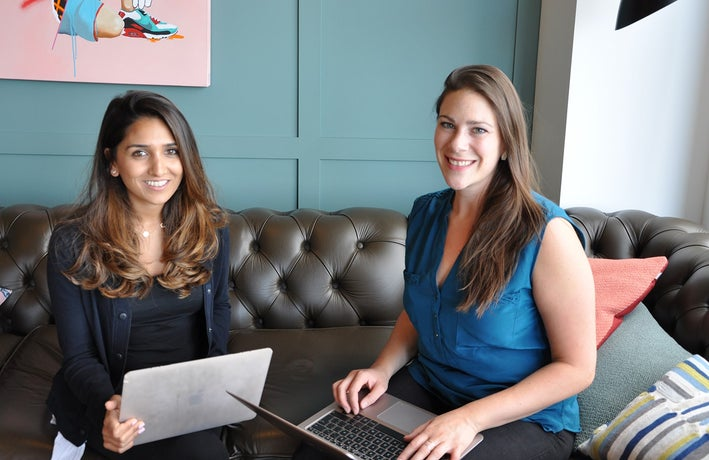 Co-founders Riya Grover and Lyz Swanton