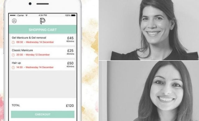 Prettly mobile app and co-founders Rhea Papanicolaou-Frangista and Farrah Hamid