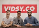 Vidsy founders Gerard Keeley, Archie Campbell and Alex Morris