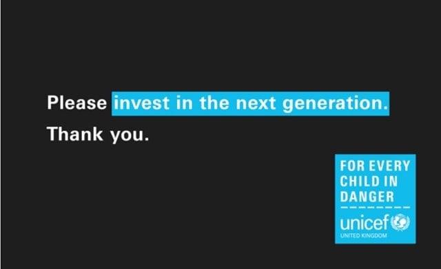 Unicef Innovation Labs fundraise