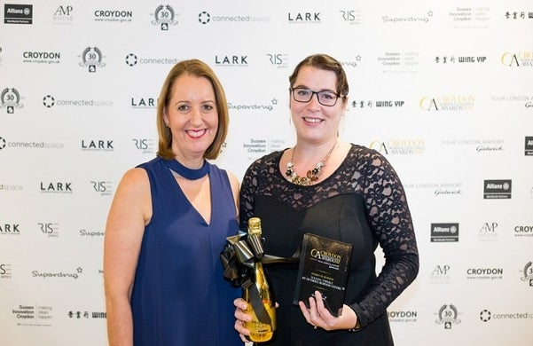 Yuliana Topazly at the Croydon Business Excellence Awards