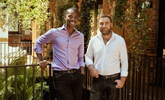 Syft co-founders Novo Abakare and Jack Beaman