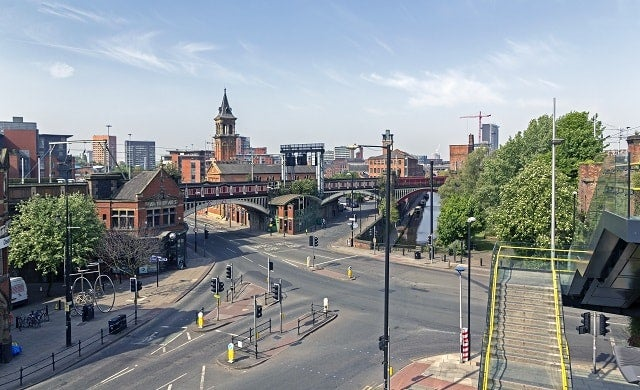 View of Manchester City Center.
