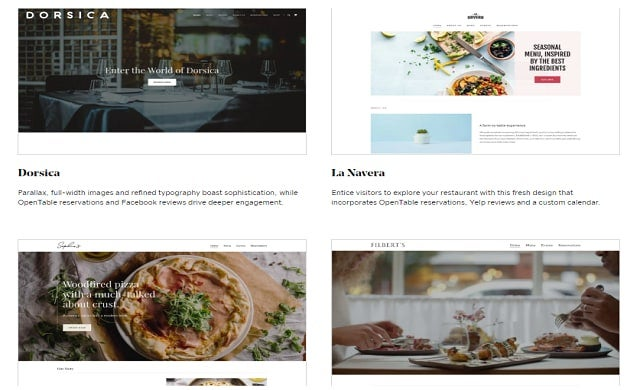 Godaddy restaurant templates.m