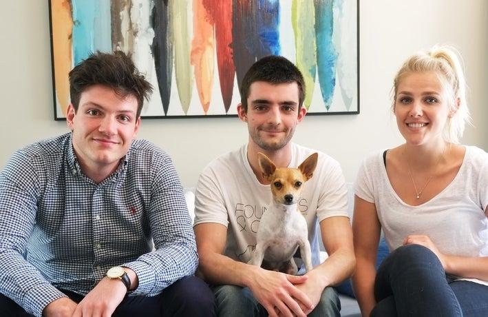 Fat Lama co-founders Chaz Englander, Owen Turner-Major and Rosie Dallas