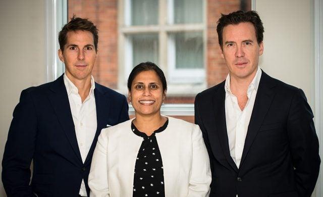 CapitalRise co-founders Alex Michelin, Uma Rajah and Andrew Dunn