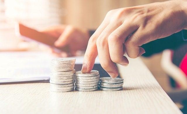 Entrepreneur's hands money