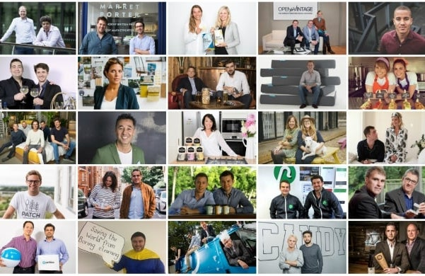 Startups 100 collage