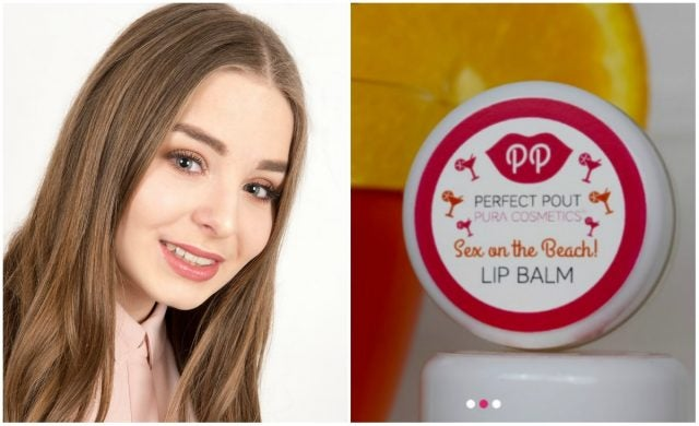 Rose Dyson and Pura Cosmetics lip balm