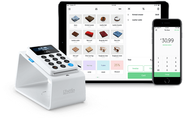 iZettle card reader pocket