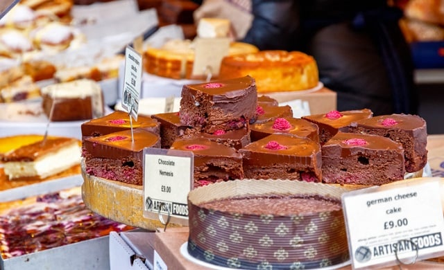Market stall cakes