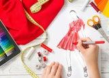 Fashion designer running a clothing line