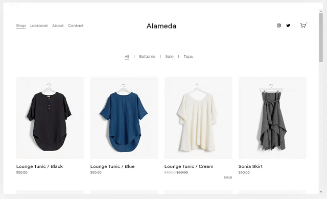 Squarespace fashion template