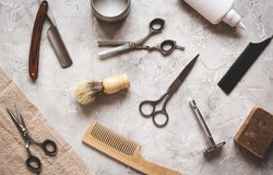Barber shop equipment, tools and products