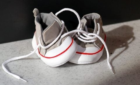 Maternity leave baby shoes