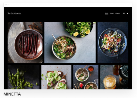 Squarespace template food