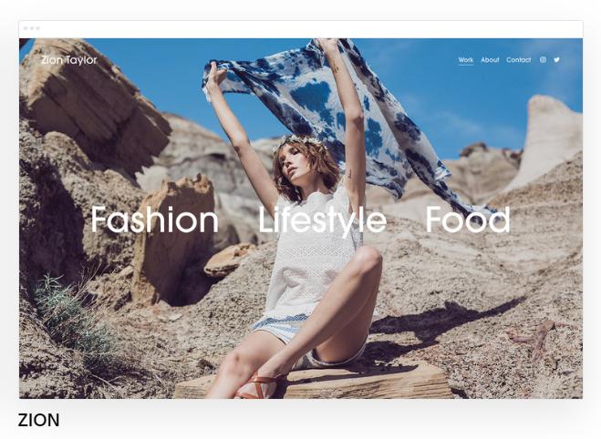 Squarespace template fashion