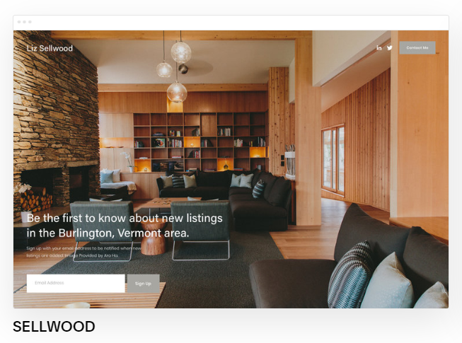 Squarespace template home