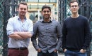 Ben Corrigan, Jonny Plein, and Vikram Simha, founders of Pouch