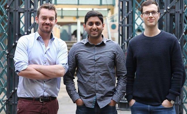 Ben Corrigan, Jonny Plein, and Vikram Simha, founders of Pouch