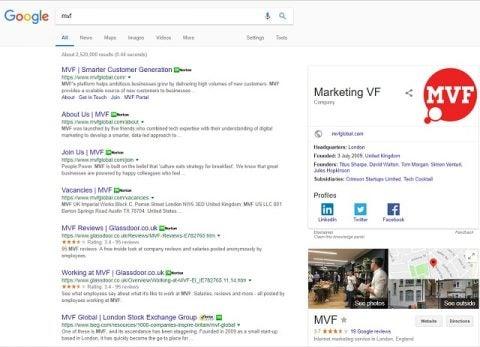 MVF google search
