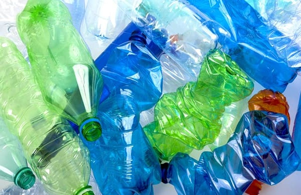 Single-use plastic water bottles