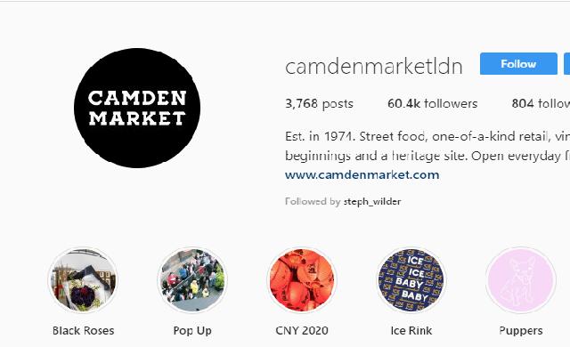 Camden market instagram