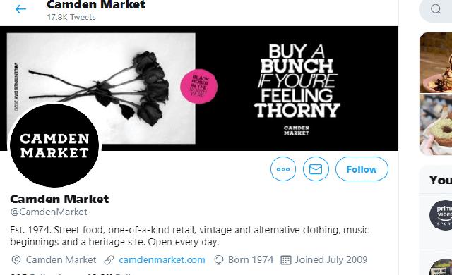 Camden market twitter