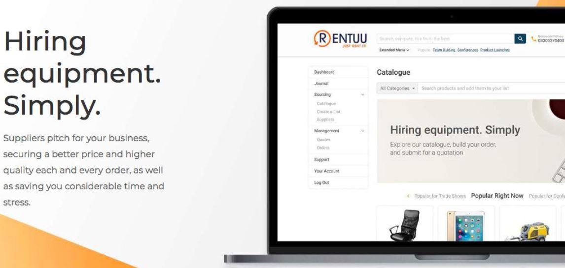 rentuu hiring equipment startup