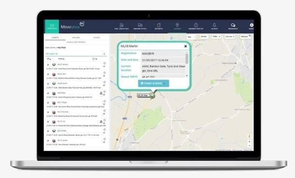Movolytics interface (business van tracking)