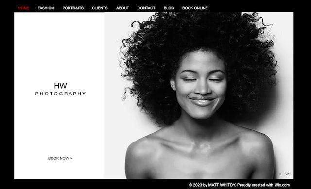 Wix website example