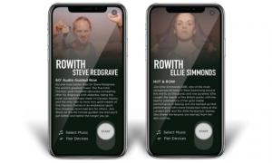 rowith app display screen