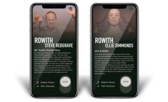 rowith app display screen