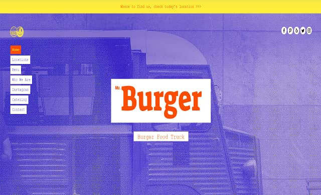 Wix burger van template