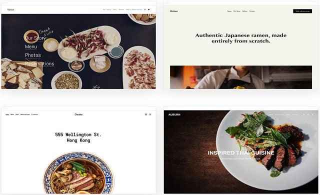 Squarespace restaurant templates