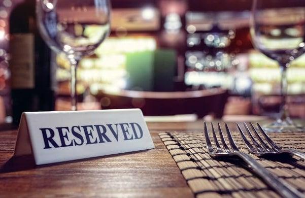 Restaurant reserved