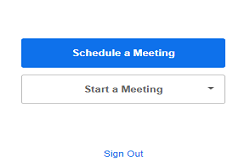 schedule meeting on zoom