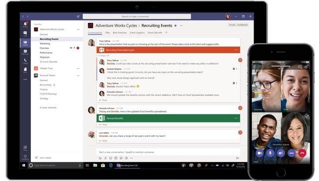 Microsoft Teams video conferencing software