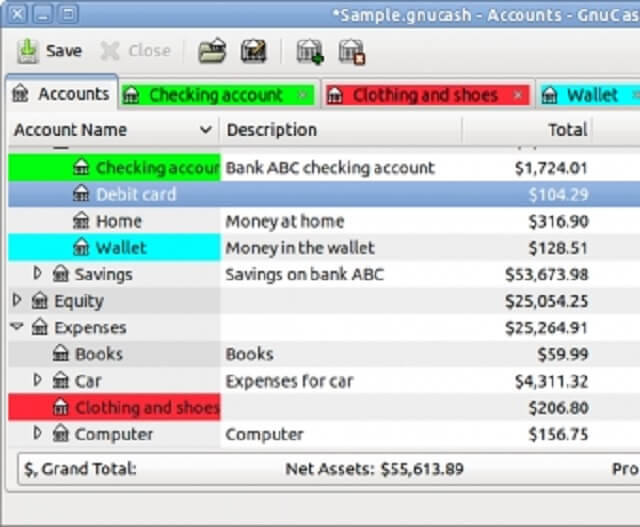 GnuCash (best free accounting software)