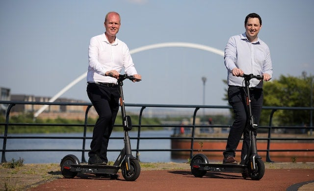Teesside trials electric scooters to help Britain back to work