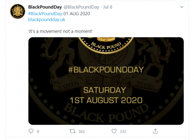black pound day