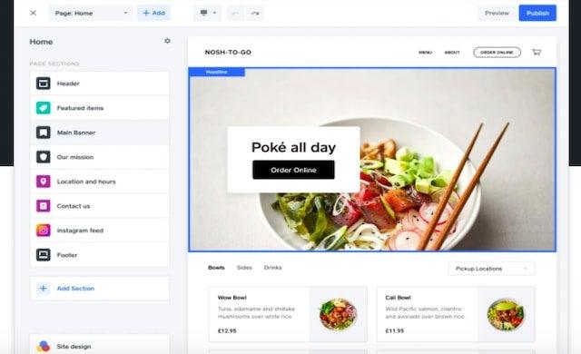 Square online design