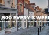Local lockdown business grants graphic
