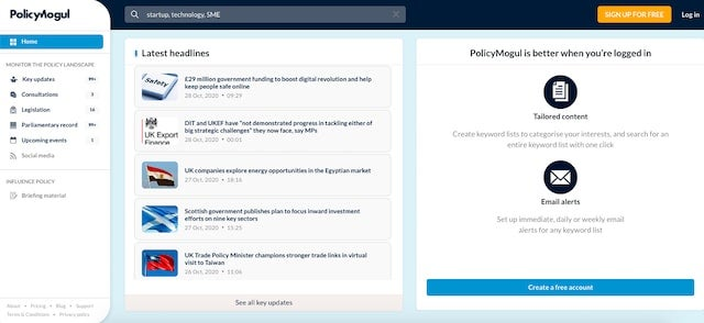 PolicyMogul screenshot