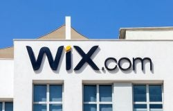 Wix logo on building