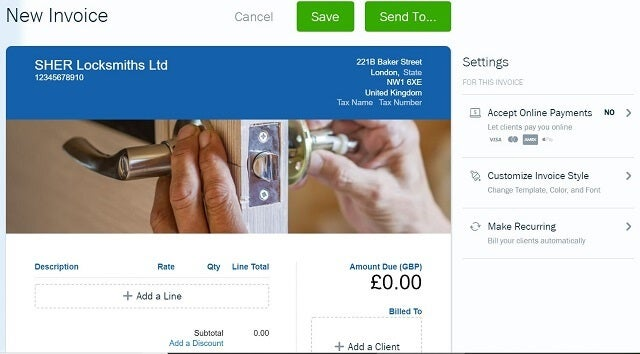 Freshbooks review create invoice