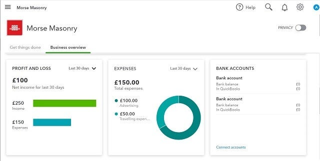 Quickbooks review profit and loss, expenses