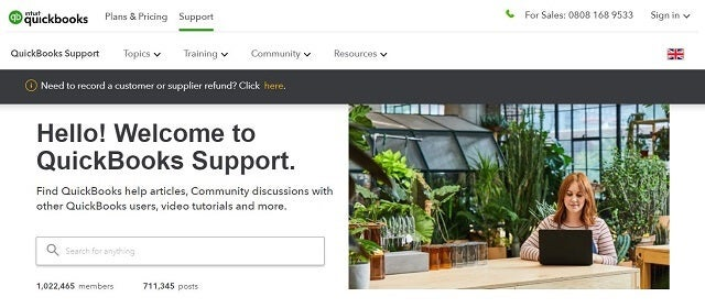 Quickbooks review support