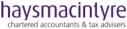 haysmacintyre logo - Startups Awards sponsor