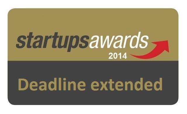 Entry deadline extended for Startups Awards 2014